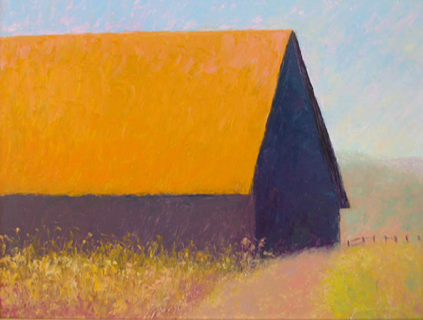 Barn at Valley Ford, 18x24 by Justina Selinger