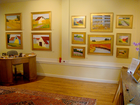 Justina's private gallery offers a quiet place to view her work