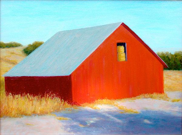 Hay Barn I by Justina Selinger