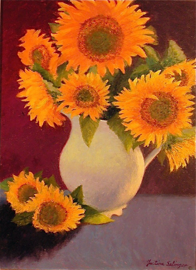 Sunflowers by Justina Selinger