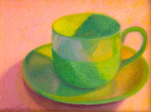 Green Cup   6x8