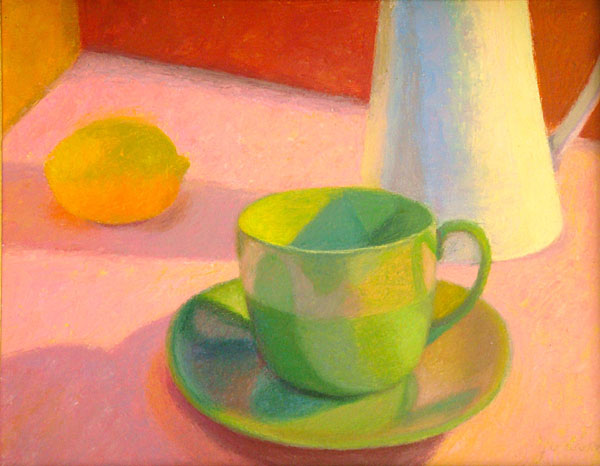 Green Cup and Lemon   11x14