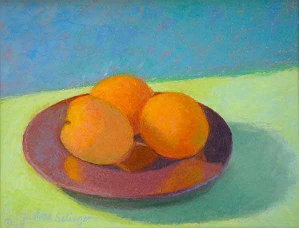 Plate of Peaches    11x14