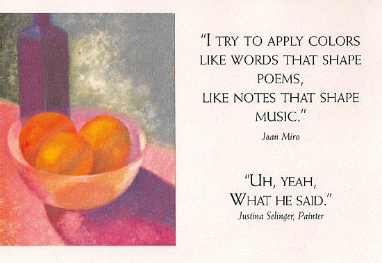 Joan Miro Postcard