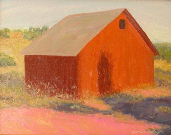 """""""Bodega Barn"""" 11 x 14 Oil on Board"""