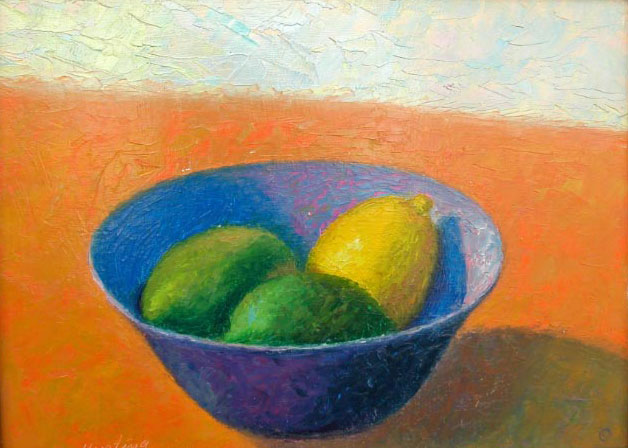 """Lemon and Limes"" Oil on Board 12"" x 9"""