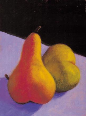 """""""Pears"""" 12 x 9 Oil on Board"""